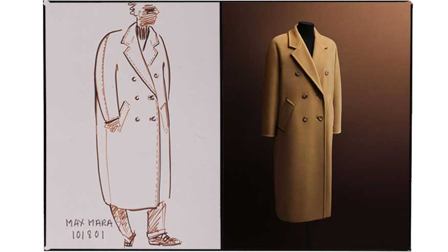 The Original sketch of the coat model 101801